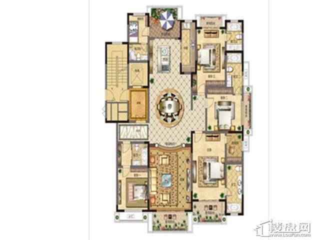 GY3高层户型图5室2厅5卫1厨 250.00㎡
