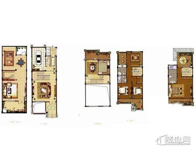 皇家美墅(联排)4室4厅4卫1厨 205.00㎡