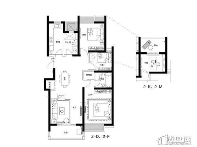 蓝庭国际2-DFKM3室2厅2卫 116.78㎡