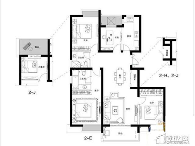 蓝庭国际2-EJH4室2厅2卫 135.54㎡