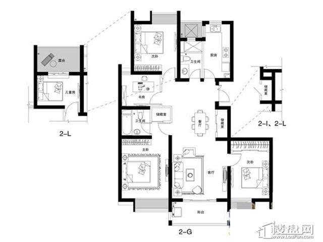 蓝庭国际2-GLI4室2厅2卫 131.40㎡