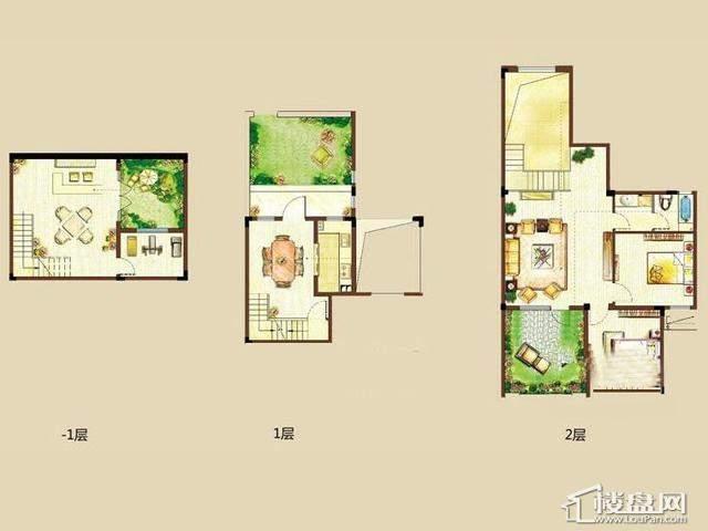 龙湖悠山郡中叠2室3厅1卫1厨 148.00㎡