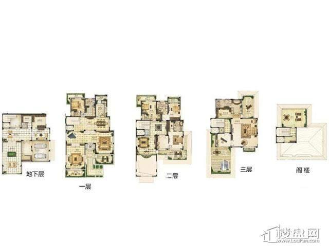 太湖畔山庄园独栋37号楼户型图4室5厅5卫 900.00㎡