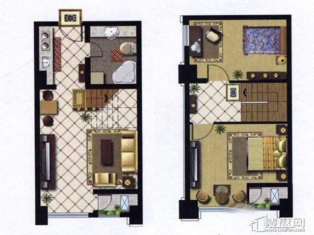 天奇盛世豪庭A2室1厅1卫 47.03㎡