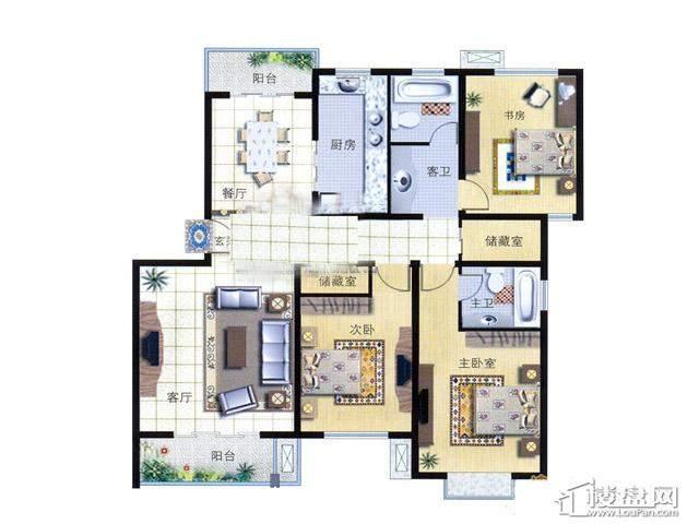 天奇盛世豪庭D13室2厅2卫 138.00㎡