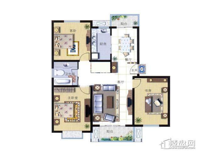 天奇盛世豪庭D83室2厅1卫 112.00㎡