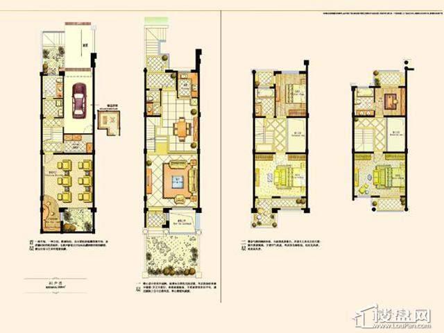 阿维侬庄园B1户型3室2厅3卫1厨 288.00㎡