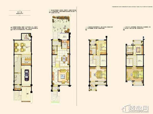 阿维侬庄园B2户型3室2厅3卫1厨 287.00㎡