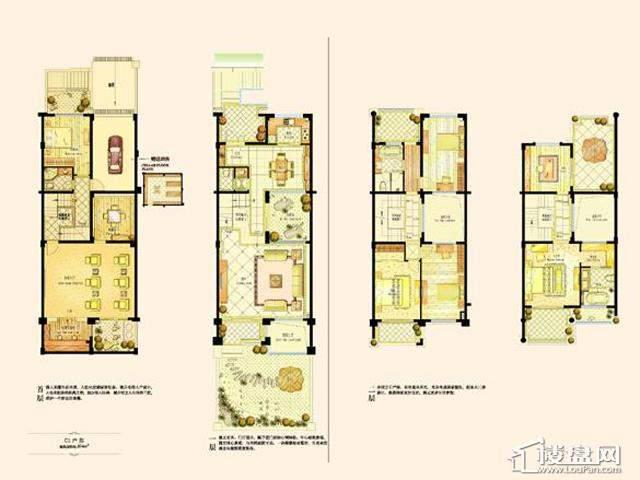 阿维侬庄园C1户型4室2厅3卫1厨 374.00㎡