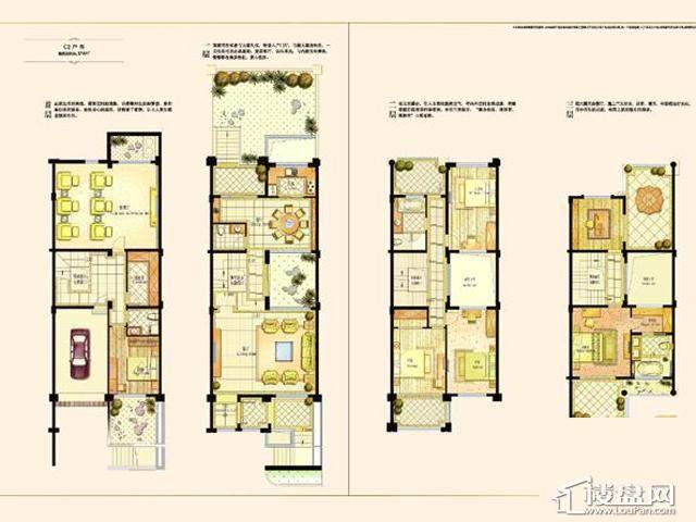 阿维侬庄园C2户型5室3厅4卫1厨 374.00㎡