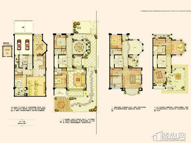 阿维侬庄园D1户型4室2厅5卫 458.00㎡