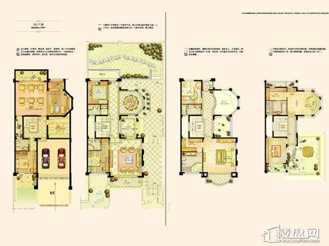阿维侬庄园D2户型4室2厅4卫1厨 458.00㎡