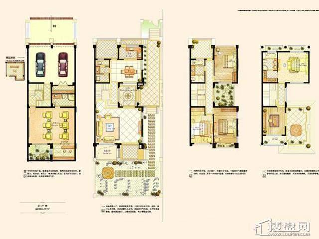 阿维侬庄园E1户型4室2厅4卫1厨 394.00㎡