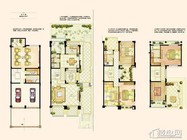 阿维侬庄园E2户型4室2厅3卫1厨 396.00㎡