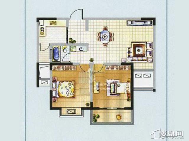 奥林花园户奥林花园奥林小户型宫寓MINI风情A22室2厅1卫 95.24㎡型图