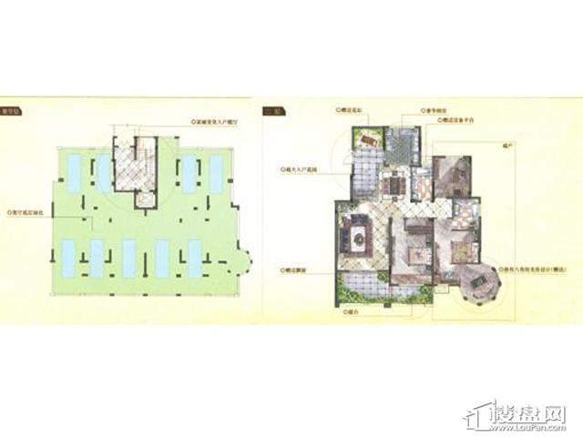 凡尔赛庄园柏翠庄电梯洋房2层2室2厅3卫 96.00㎡