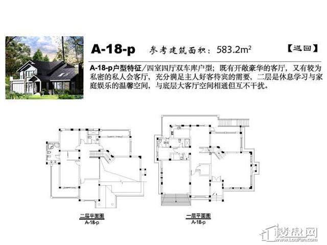 弘阳三万顷A-18-p4室4厅5卫 583.20㎡