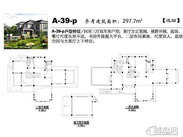 弘阳三万顷A-39-p4室3厅5卫 297.70㎡