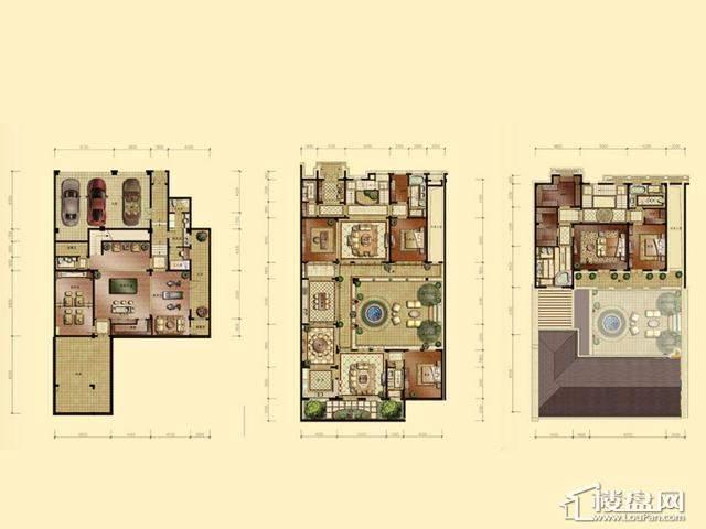 蠡湖香樟园A1户型4室3厅3卫 707.90㎡