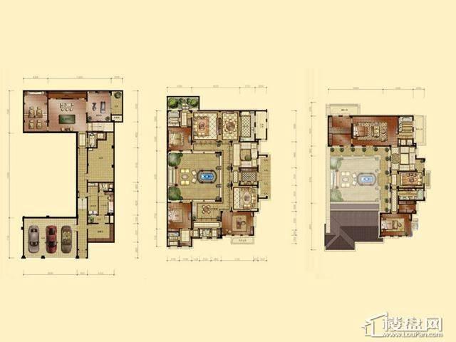蠡湖香樟园C2户型4室4厅4卫 744.60㎡