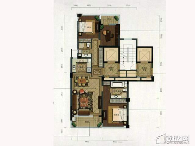 绿城玉兰花园西区F2户型3室2厅2卫1厨 138.66㎡