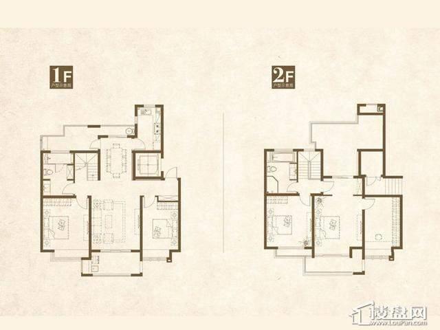 魅力万科城酩悦复式户型图4室2厅2卫1厨 171.00㎡