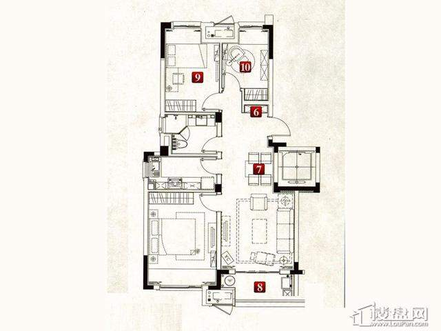 魅力万科城酩悦精装小公寓2室2厅1卫1厨 90.00㎡