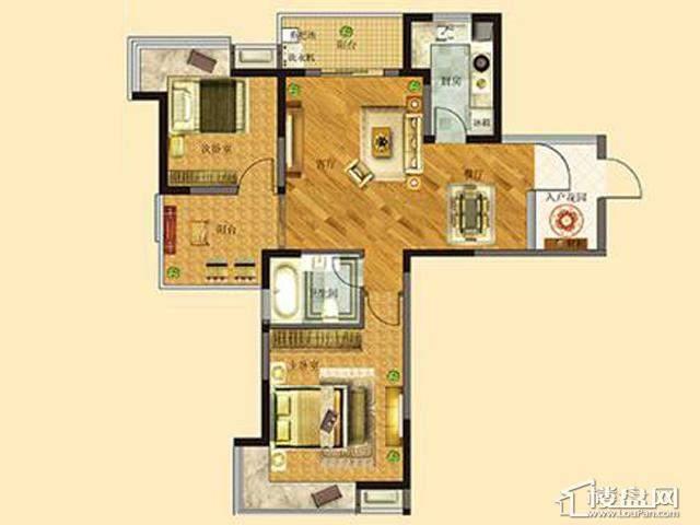 太湖国际社区39#ME邸ⅡC户型2室2厅1卫 88.66㎡