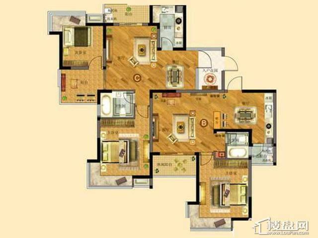 太湖国际社区ME邸Ⅱ B、C户型2室2厅1卫 89.00㎡