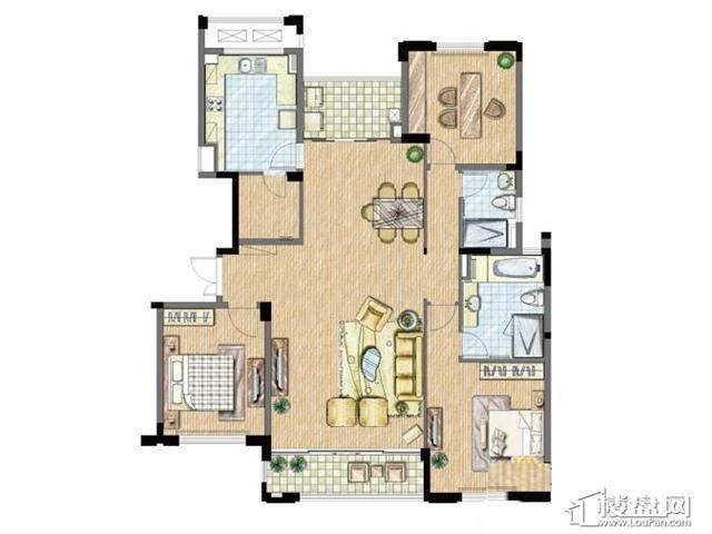 太湖锦园宽景公寓C2户型3室2厅2卫 155.00㎡