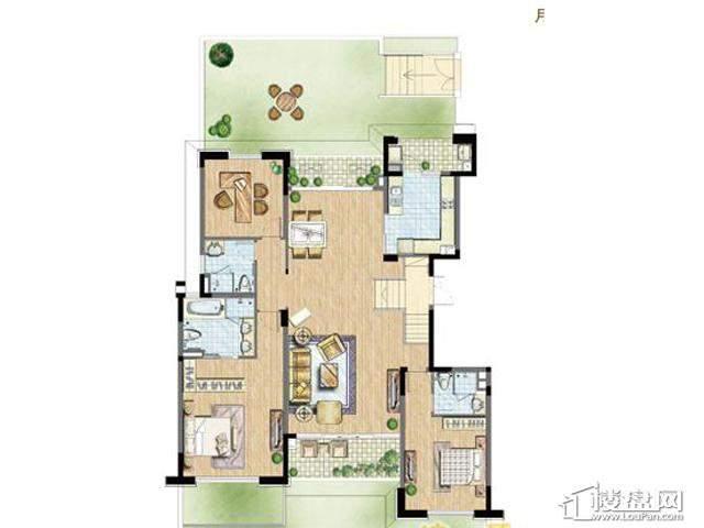 太湖锦园宽景公寓D5户型3室2厅2卫 173.00㎡