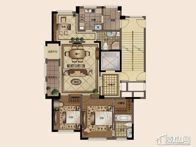 长甲地产·长泰国际社区B2户型3室2厅2卫 139.33㎡