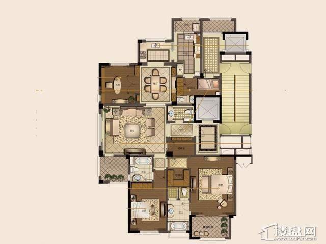 长甲地产·长泰国际社区D4户型3室2厅3卫 218.83㎡