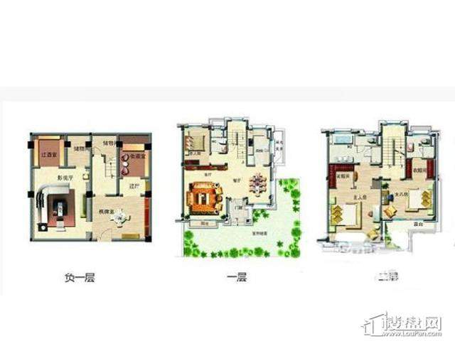 61栋别墅G93户型4室4厅4卫4厨 335.00㎡