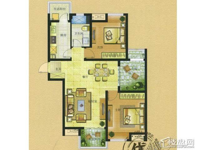 HOUSE C3-1户型2室2厅1卫 92.00㎡