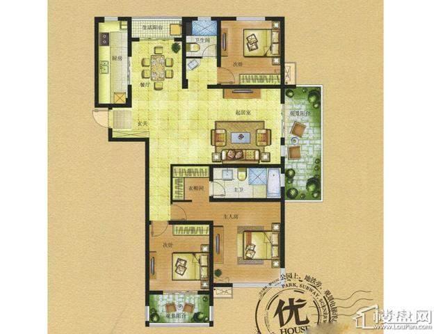 HOUSE C4-1户型3室2厅2卫 137.00㎡