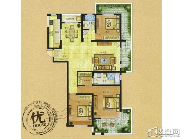 HOUSE C4-2户型3室2厅2卫 136.00㎡