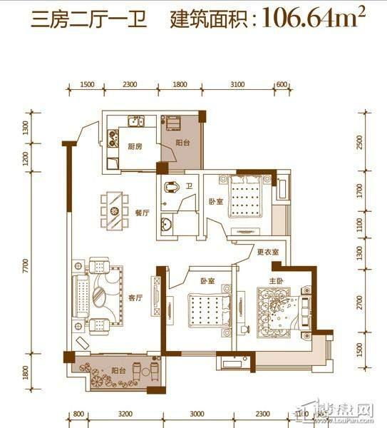 华盛·世纪新城户型图