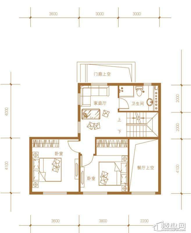 39-58号楼联排别墅Ec户型二层