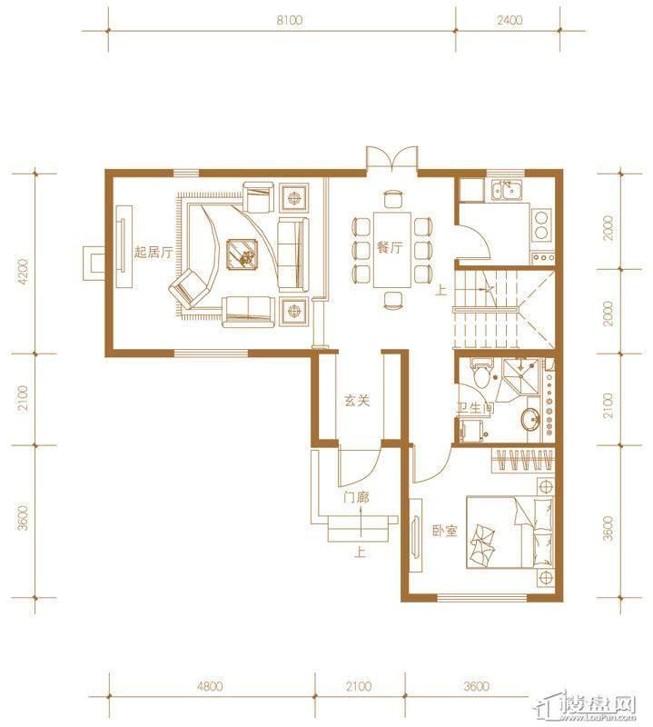 39-58号楼联排别墅Ed户型首层