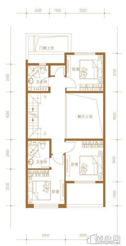 39-58号楼联排别墅Mb户型二层