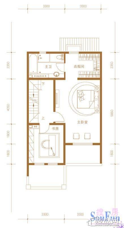 39-58号楼联排别墅Mb户型三层5室2厅4卫1厨