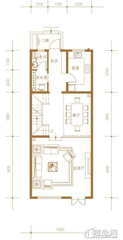 39-58号楼联排别墅Mc户型首层4室2厅4卫1厨
