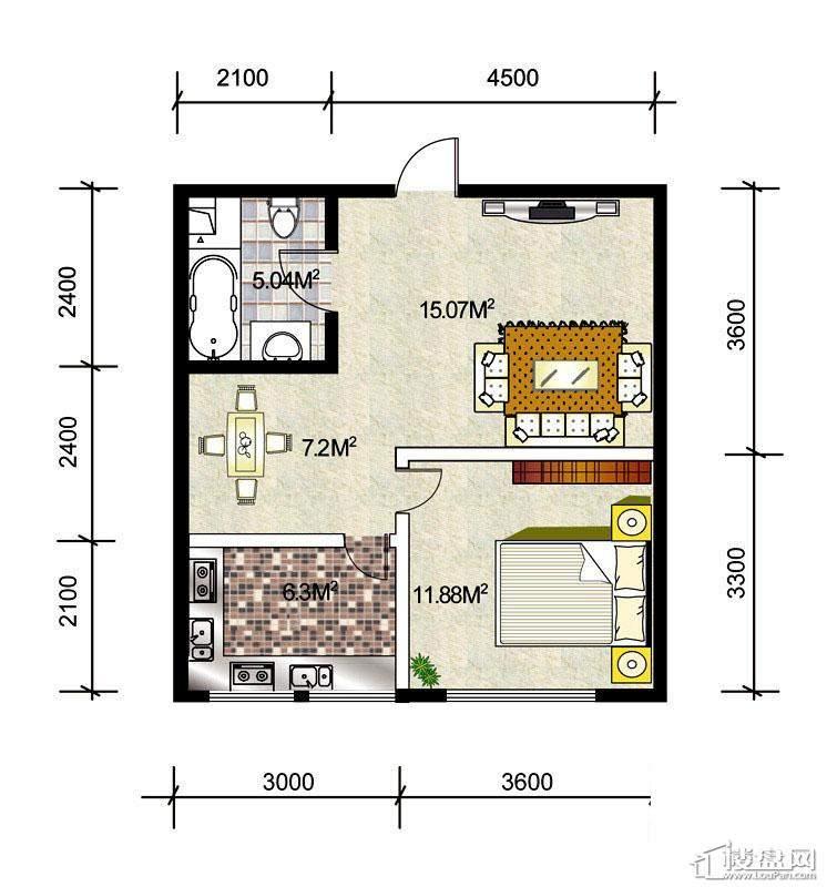 1、2#楼标准层A5户型