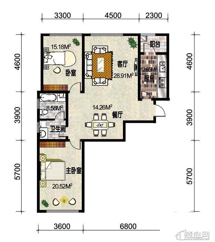 3#楼标准层C1户型
