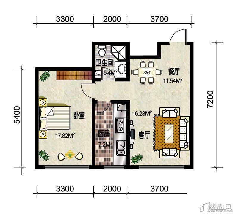 3#楼标准层C2户型