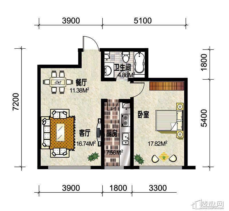 3#楼标准层C3户型