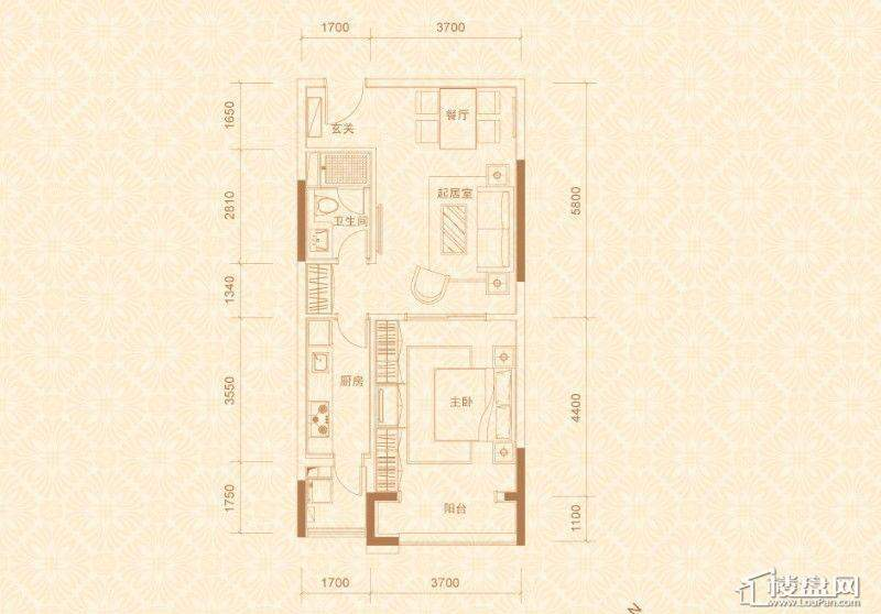 2#、4#楼04室3-10层E5户型