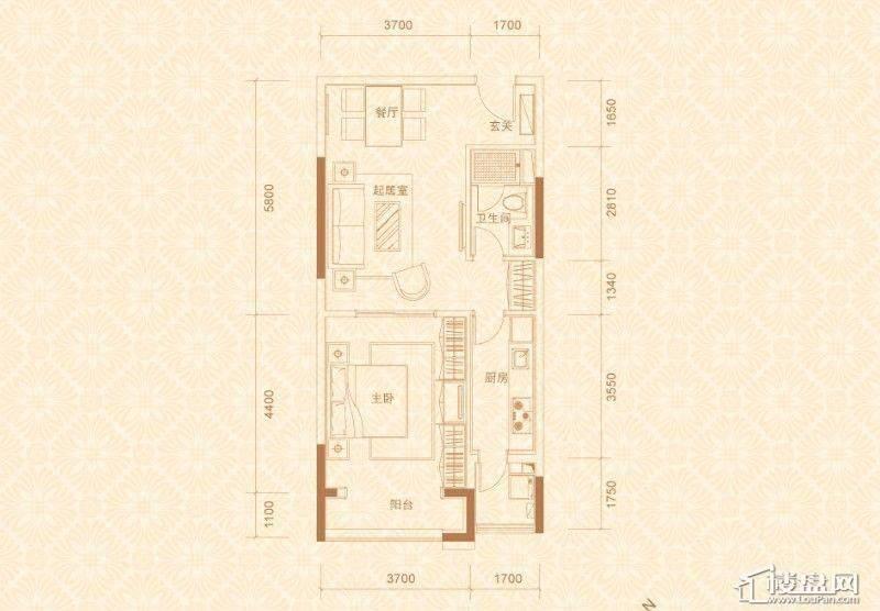 2#、4#楼05室3-10层E5户型