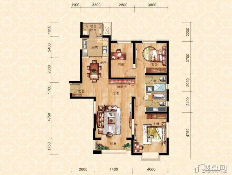 10#楼2门03室3-27层A3户型